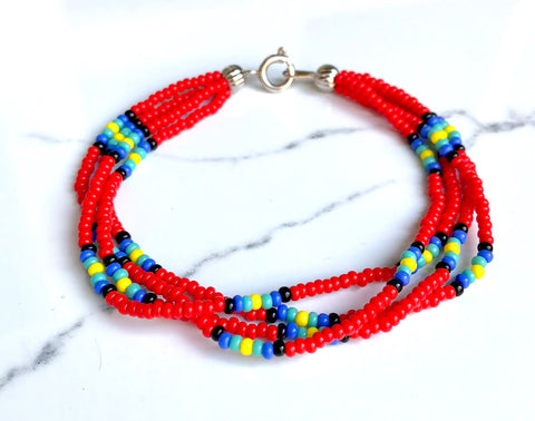 The Quartet Bracelet- Native Red