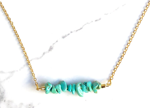 The Chipper in Turquoise Howlite