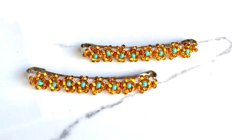 The Daisy-Gold/Turquoise