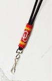 Oklahoma Sooners Beaded Lanyard