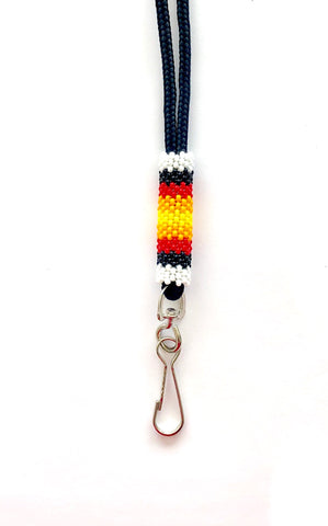 White Beaded Lanyard