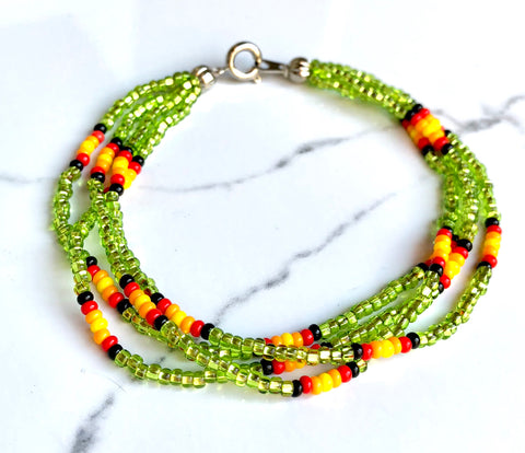 The Quartet Bracelet- Native Sparkle Green