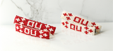 The Duo-Beaded Barrettes Oklahoma Sooners (Red)