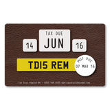 Tax Card Reminder - Leather