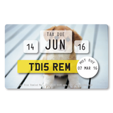 Tax Card Reminder - Puppies
