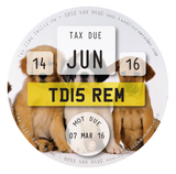 Tax Disc Reminder - Puppies