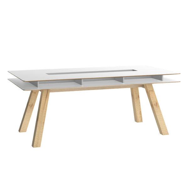 4You Table 200X100 - White (Optional Drawers) - CLM Home