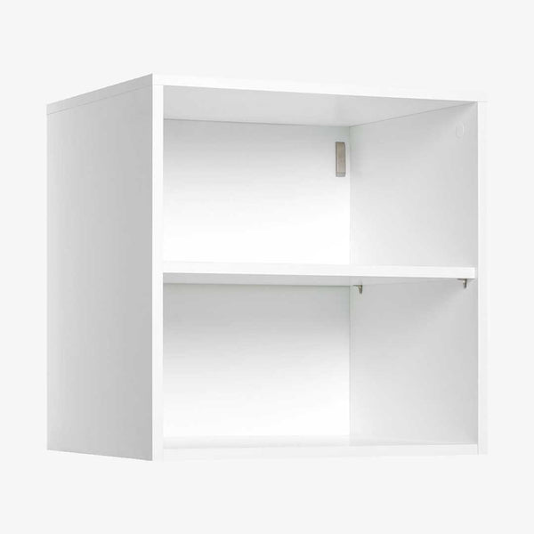 YU 2 Cubby Cube Wall Shelf - White - CLM Home