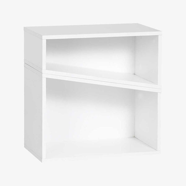 YU Slanting Cube Shelf - White - CLM Home