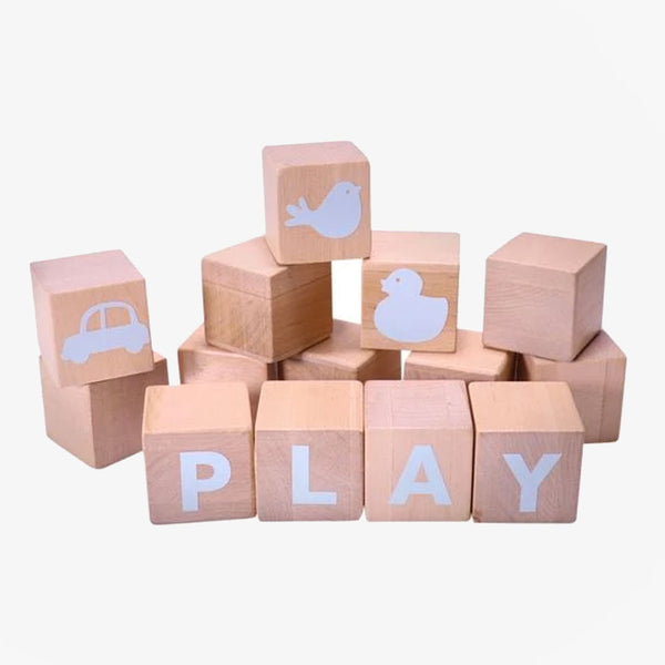 Alphabet Blocks - Blue - CLM Home