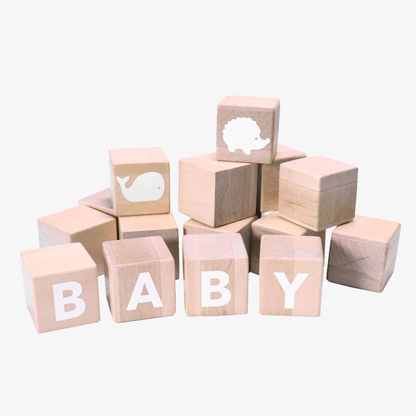Alphabet Blocks - White - CLM Home