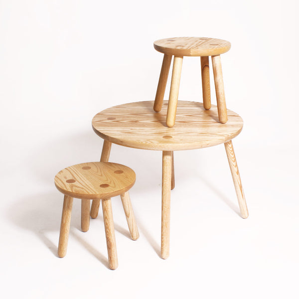 Solid Ash Round Table - CLM Home