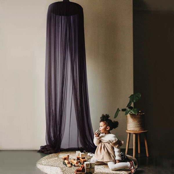 Hanging Tent Canopy Netting - Aubergine - CLM Home