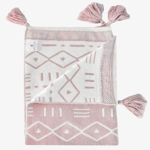 Aztec Blanket - Rose - CLM Home