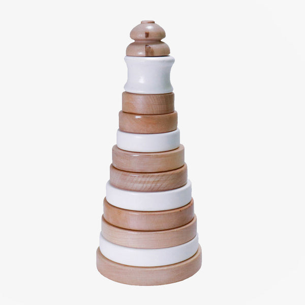 Wooden Stacker - White - CLM Home