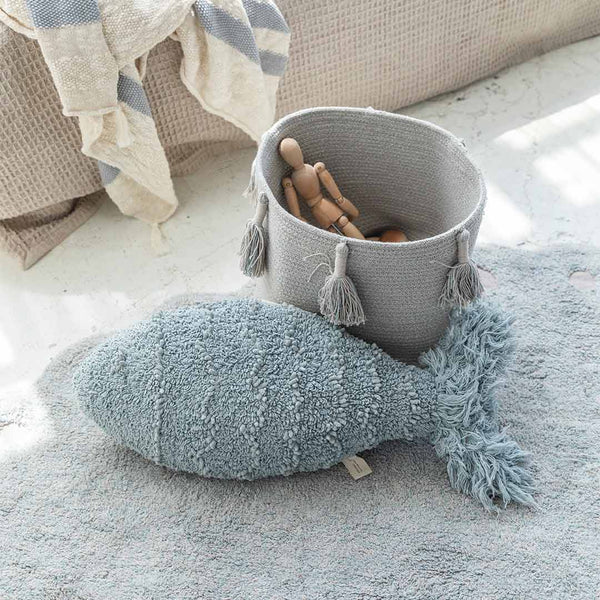 Woody Basket - Pearl Blue - CLM Home