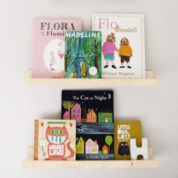 Book Display Ledge - Birch, Large - CLM Home