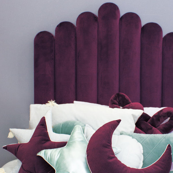 Velvet Biscuit Headboard - CLM Home