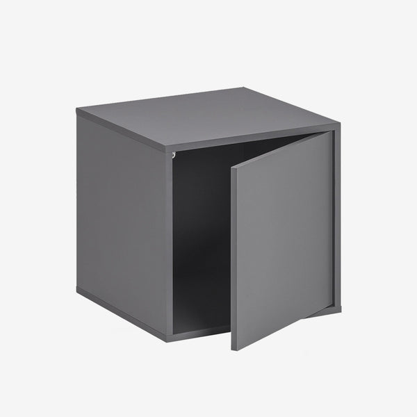 Balance Medium Box With Door - Graphite - CLM Home