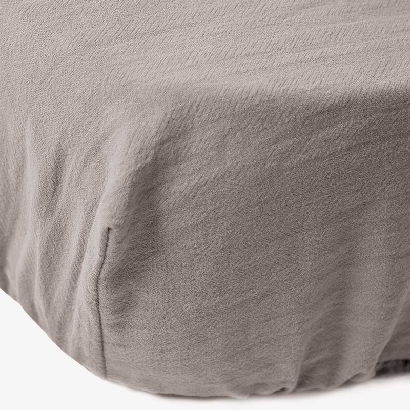 Signature Cot Fitted Sheet - Misty Grey - 132 X 66 SA Standard Cot - CLM Home