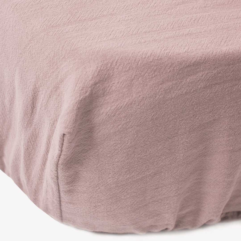 Signature Cot Fitted Sheet - Rose - 132 X 66 SA Standard Cot - CLM Home