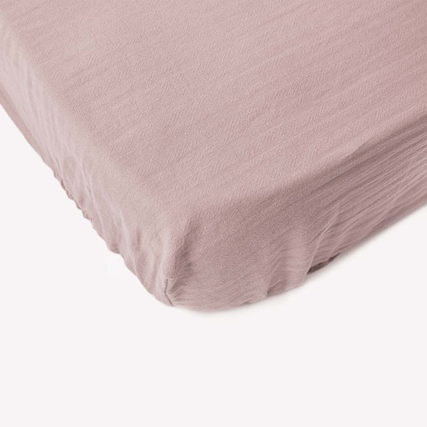Signature Cot Fitted Sheet - Rose - 140 X 70 European Cot - CLM Home