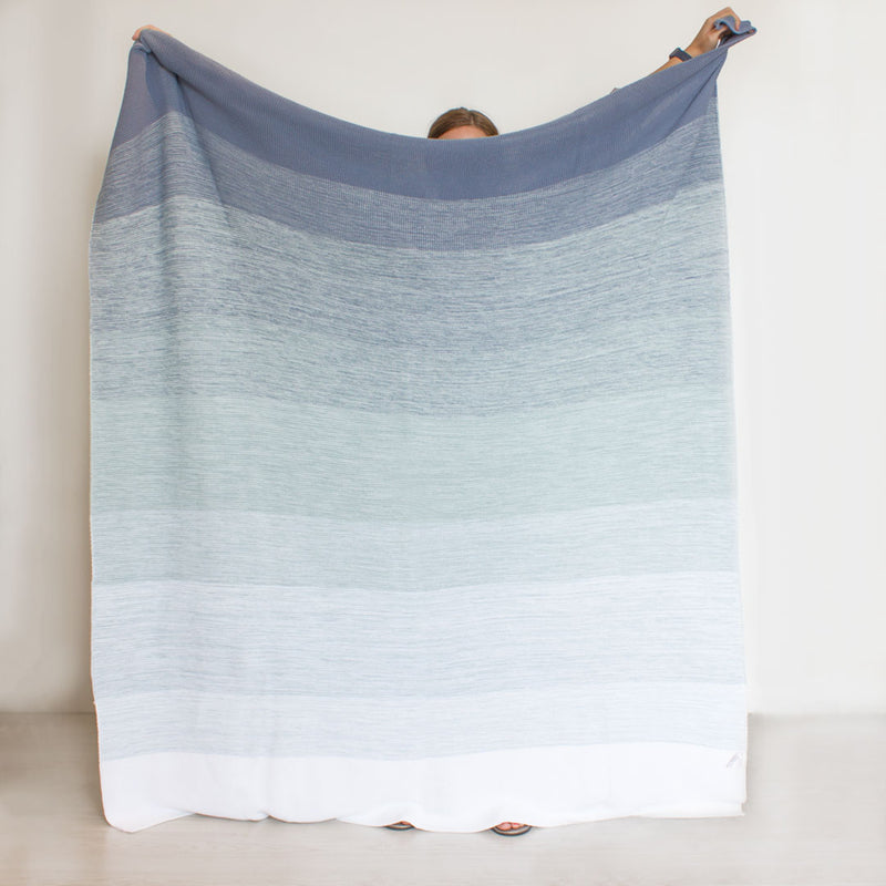 Ombre Blanket - Ocean Blue - CLM Home