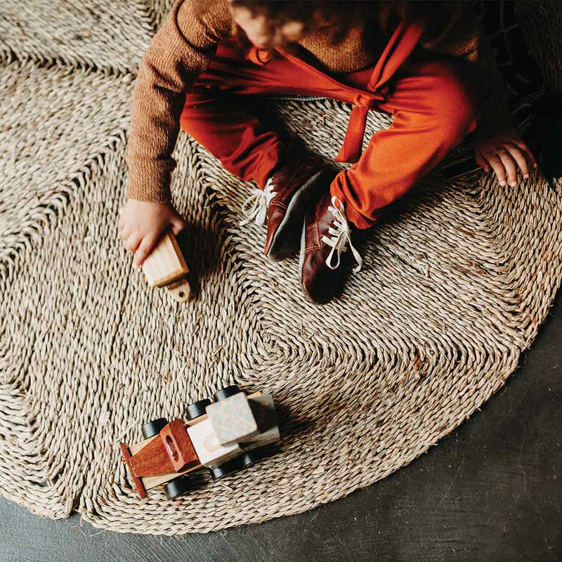 Geometric Seagrass Rug - Small - CLM Home