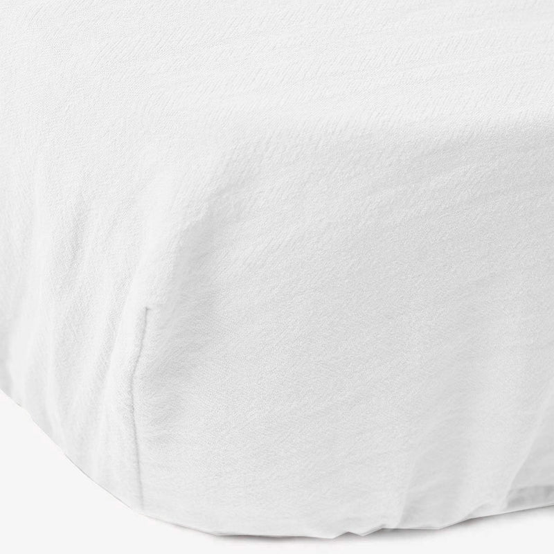 Signature Cot Fitted Sheet - Cloudy White - 140 X 70 European Cot - CLM Home