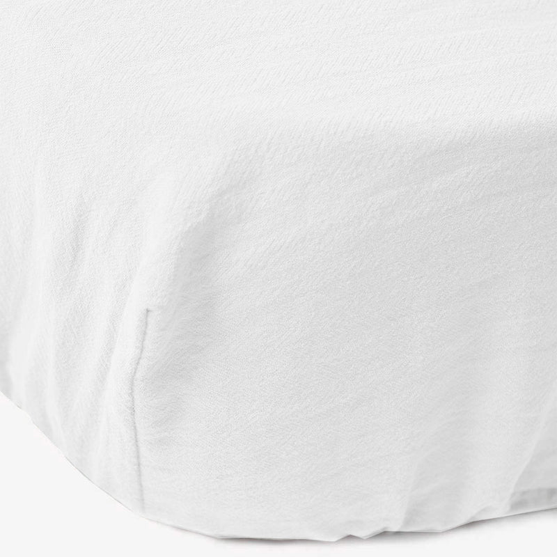 Signature Cot Fitted Sheet - Cloudy White - 132 X 66 SA Standard Cot - CLM Home