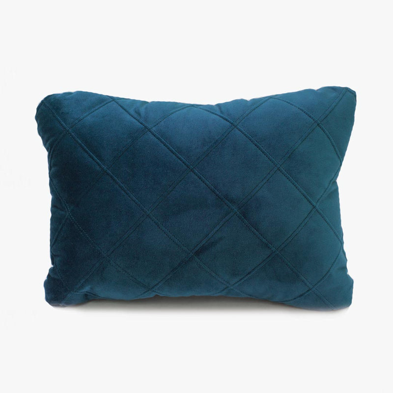 Velvet Quilted Scatter - Midnight Blue - CLM Home