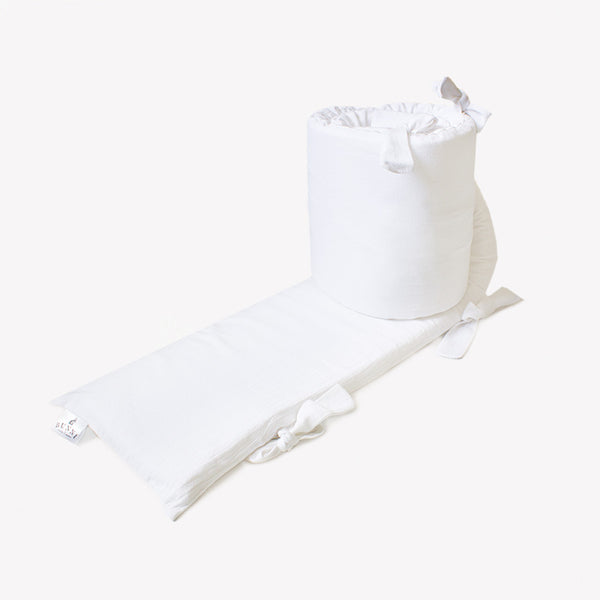Signature Cot Bumper Cover - Cloudy White - CLM Home