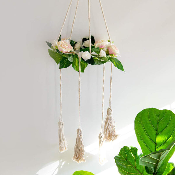 Fairytale Floral Mobile - Ivory - CLM Home