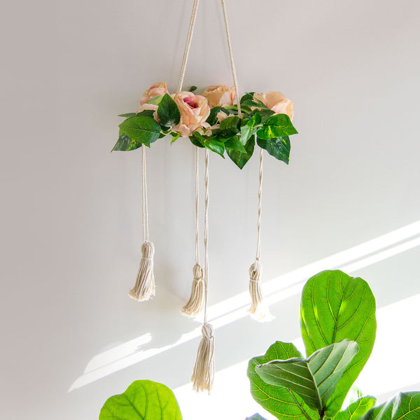 Fairytale Floral Mobile - Nude Pink - CLM Home
