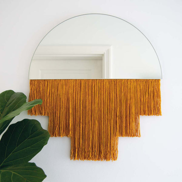 Half Moon Mirror - Mustard - CLM Home