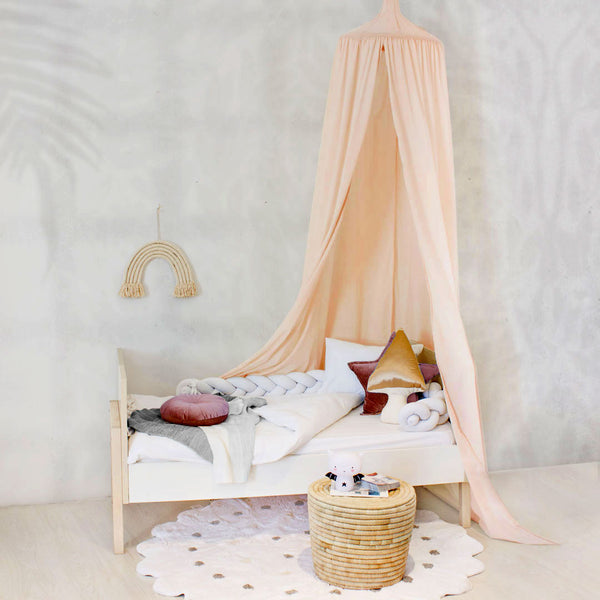 Hanging Tent Canopy - Peach - CLM Home