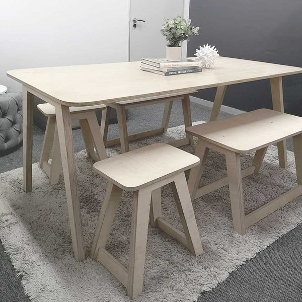 Linnea Rounded Dining Table - CLM Home