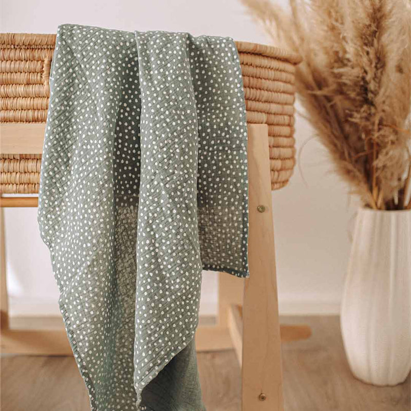 Muslin Wrap - Sage Green - CLM Home