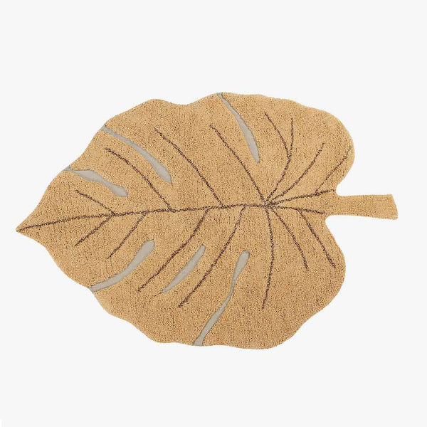 Monstera Leaf Rug Honey - CLM Home