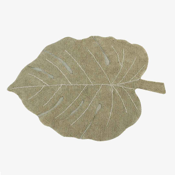 Monstera Leaf Rug Olive - CLM Home