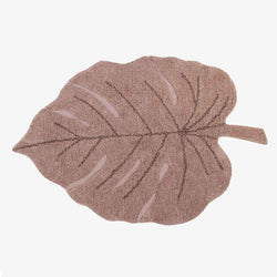 Monstera Leaf Rug Vintage Nude Pink - CLM Home