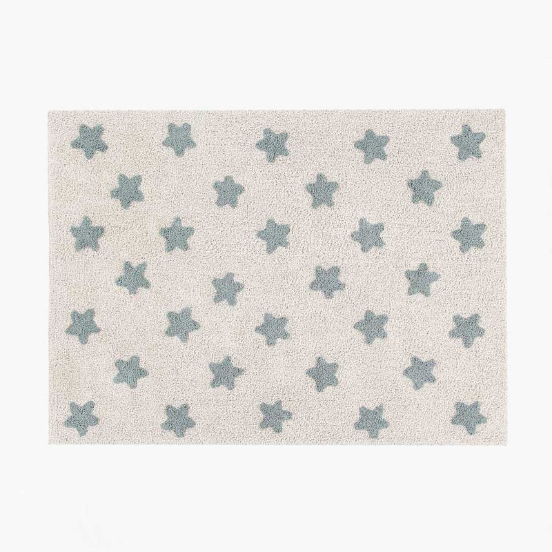 Stars Rug - Natural & Vintage Blue - CLM Home