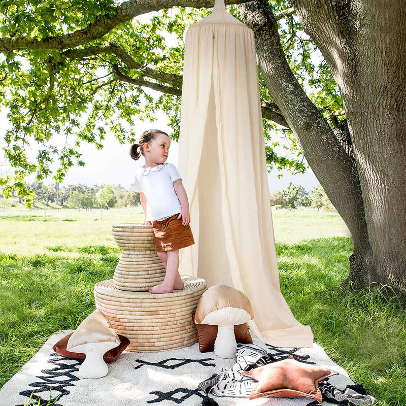 Hanging Tent Canopy - Natural Ivory - CLM Home