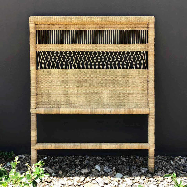 Maravi Wicker Headboard - 3/4 - CLM Home