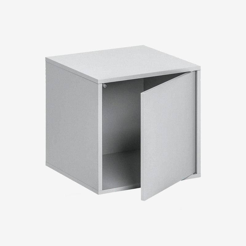 Balance Medium Box With Door - Light Grey - CLM Home