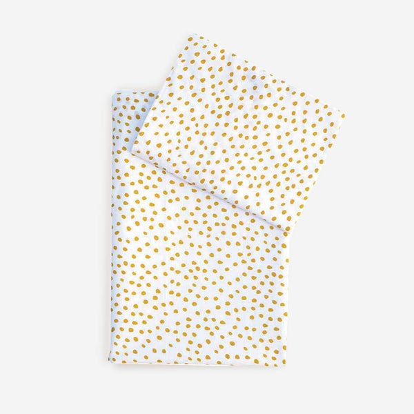 Messy Dots Cot Set - Mustard - CLM Home