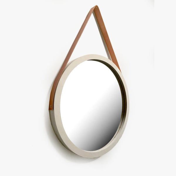 Porthole Mirror with Leather Strap - CLM Home