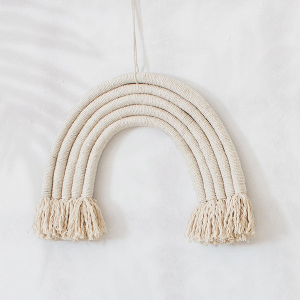 Rainbow Wall Hanging - Natural - CLM Home