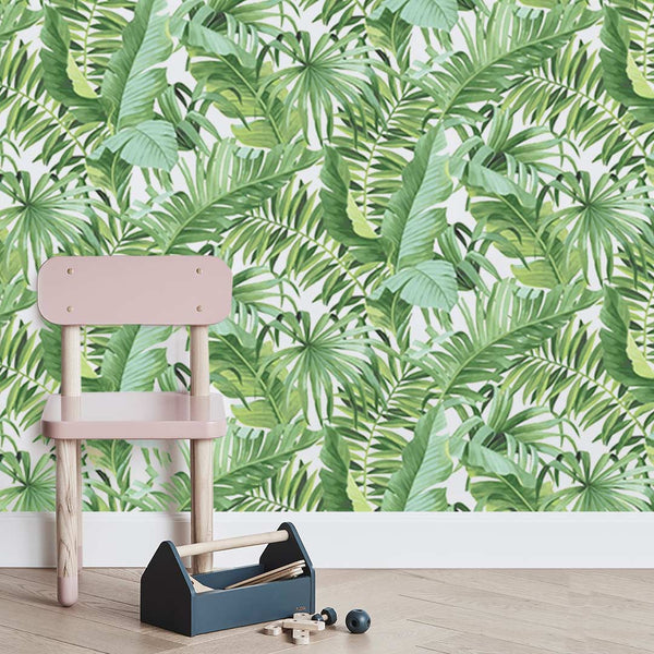 Tropical Leaves Wallpaper - Green - CLM Home