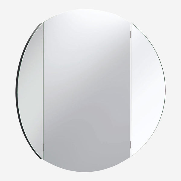 Simple Round Wall Mirror - Black - CLM Home